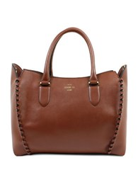 London Fog Whitby Vegan Leather Tote Russet