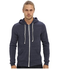 Alternative Apparel Rocky Zip Hoodie Eco True Navy Men's Sweatshirt