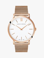Larsson And Jennings Unisex Ljxii Bracelet Strap Watch Rose Gold