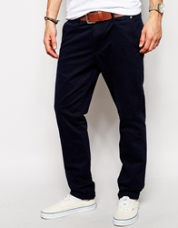 Solid Solid Straight Fit Chinos Insigniablue