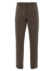 Paul Smith Tapered Leg Checked Wool Trousers Navy Multi