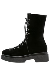 Jeannot Laceup Boots Nero Black