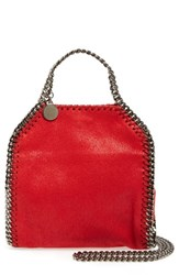 Stella Mccartney 'Tiny Falabella' Faux Leather Crossbody Bag Red Cherry