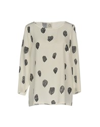 Attic And Barn Shirts Blouses Ivory
