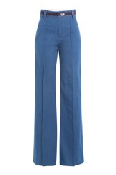 Marc Jacobs Wide Leg Jeans With Contrast Thread Blue