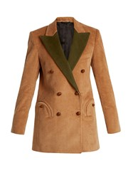 Blaze Milano Classic Touch Everyday Corduroy Blazer Tan