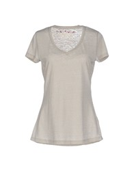 Red Soul Topwear T Shirts Women Light Grey