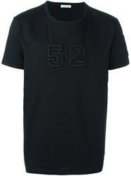 Moncler Embroidered Patch T Shirt Black
