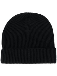 Tom Ford Cashmere Ribbed Beanie Black