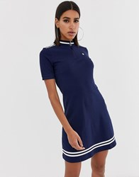 G Star Cergy Organic Cotton Fitted Dress With High Neck And Zip Multi