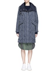 Kuho Polka Dot Jacquard Coat Multi Colour
