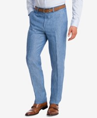 Bar Iii Slim Fit Blue Chambray Suit Pants