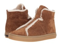 Kennel Schmenger And Basket High Suede And Fleece Sneaker Hazel Suede Natural Shearling Shoes Brown