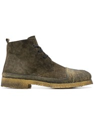 Rocco P. Lace Up Ankle Boots Green