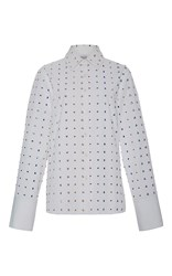 Rosie Assoulin Lucky Charms Embellished Shirt White