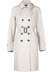 Herno Mid Length Trench Coat Nude And Neutrals