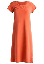 American Vintage Enastate Jersey Dress Rouille Orange