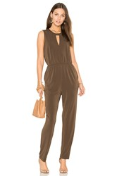 Bcbgeneration Triangle Front Jumpsuit Brown