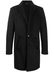 Daniele Alessandrini Single Breasted Slim Coat Black