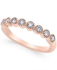 Macy's Diamond Halo Band 1 4 Ct. T.W. In 14K White Gold 14K Rose Gold Or Gold