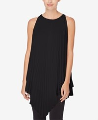 Catherine Malandrino Pleated V Hem Tunic Black