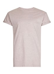 Topman Pink Textured Muscle Fit Roller T Shirt