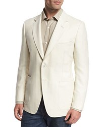 Tom Ford O'connor Base Herringbone Two Button Sport Coat White