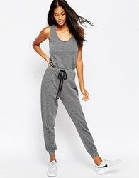Asos Casual Vest Jumpsuit With Draw String Waist Grey