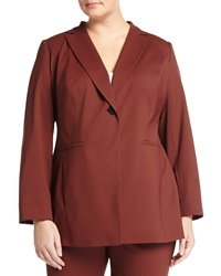 Lafayette 148 New York Plus Lenore Long Sleeve Blazer Jacket Date