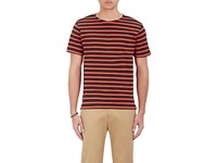 Paul Smith Ps By Men's Breton Striped T Shirt Red Navy