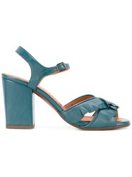 Chie Mihara Crossover Strap Sandals Blue