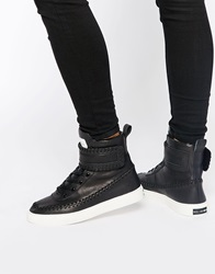 Religion Hedonism High Top Trainers Washedblack