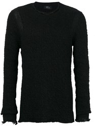 Lost And Found Ria Dunn Classic Knitted Sweater Men Linen Flax Polyamide Polyester Wool L Black