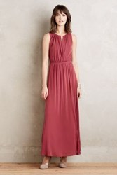 Anthropologie Terra Maxi Dress Red