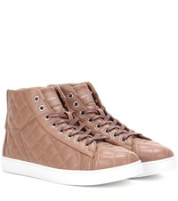 Gianvito Rossi High Driver Quilted Leather Sneakers Neutrals