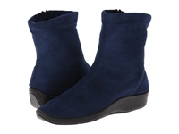 Arcopedico L8 Navy Suede Women's Zip Boots Blue