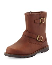 Ugg Harwell Leather Buckle Trim Boot Stout Youth