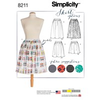Simplicity Women's Skirts Sewing Pattern 8211
