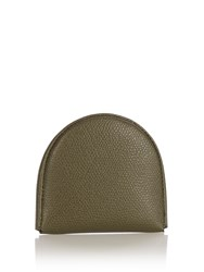 Valextra Leather Coin Purse Khaki