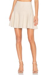 1.State Flounce Mini Skirt Beige