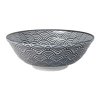 Tokyo Design Studio Nippon Black Serving Bowl Wave