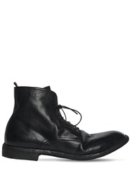 Officine Creative Leather Lace Up Boots Black