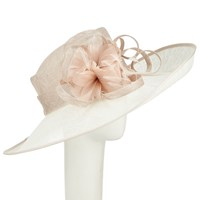 John Lewis Lisa Side Up Occasion Hat Ivory