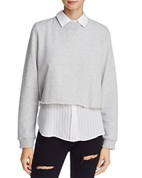 Rails Edson Layered Look Sweatshirt Sterling