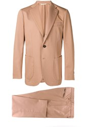 Doppiaa Two Piece Suit Brown