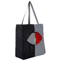 Lulu Guinness 50 50 Stripe Lip Foldaway Shopper Bag Multi