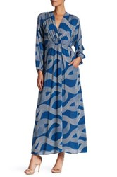 Dress Forum Printed Surplice Maxi Blue
