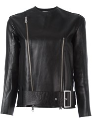 Victoria Beckham Double Zip Bike Jacket Black