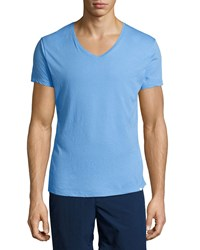 Orlebar Brown Riviera V Neck Short Sleeve Tee Blue