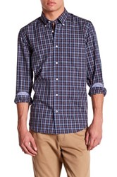 Nautica Long Sleeve Woven Plaid Shirt Blue